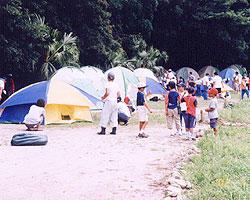 乙島キャンプ場開き